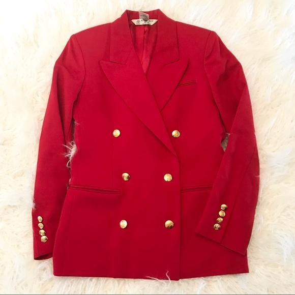 Austin Reed Jackets Coats Vintage Austin Reed Red Wool Blazer Euc Poshmark